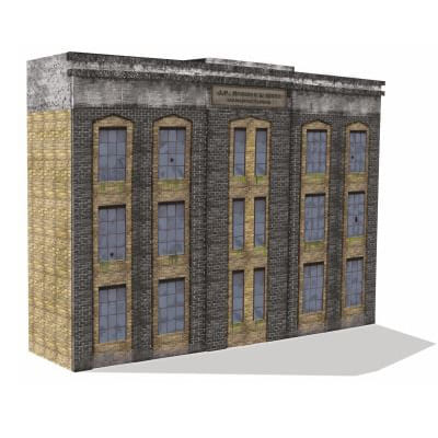 3 level model railroad backdrop building