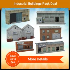 6 printable model railroad buildings - rail yard industries