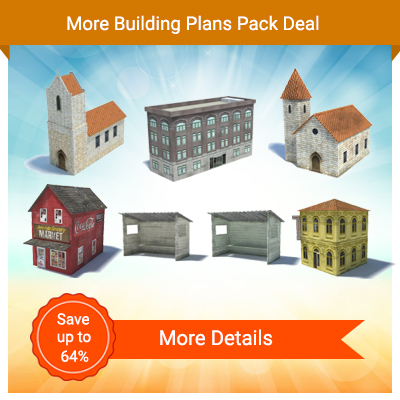 scale model churches - download printable paper buildings