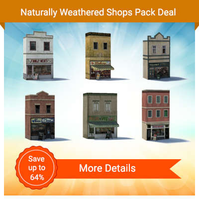 photograph about Printable Buildings named In a natural way Weathered Stores Pack Offer