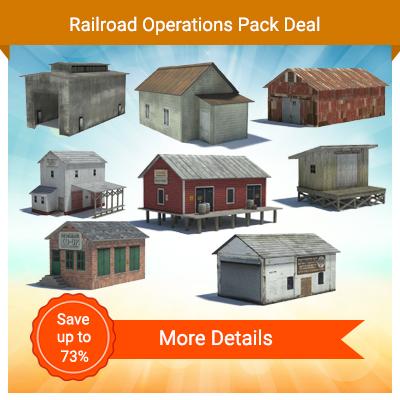 model railroad rail yard structures ho buildings