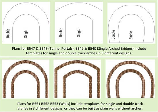 double single track templates