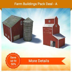 construct model train farm buildings - grain elevator, barn