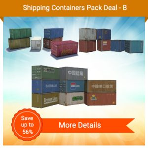 Shipping And Containers Pack Deal - B