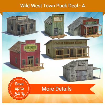 Wild West Town Pack Deal - A