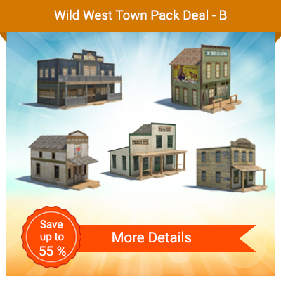 Wild West Town Pack Deal - B