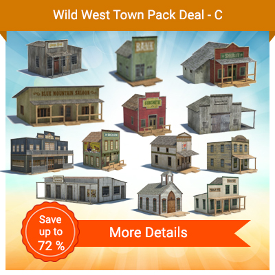 Wild West Town Pack Deal - C