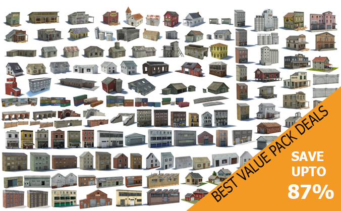 model buildings monster value packs
