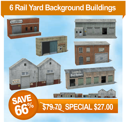 6 printable model railroad buildings - rail yard industries