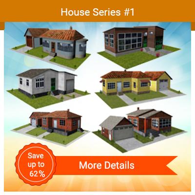 building model houses for residential street scenery