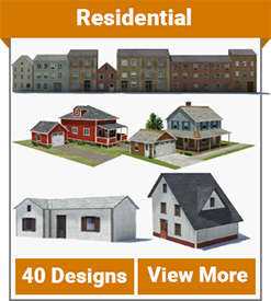 image relating to Ho Scale Buildings Free Printable Plans referred to as Dwelling - Type Constructions