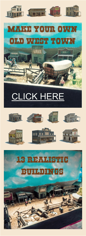 ho models of old wild western buildings