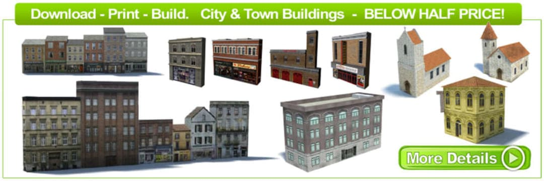 city town model railway buildings for ho scale trains