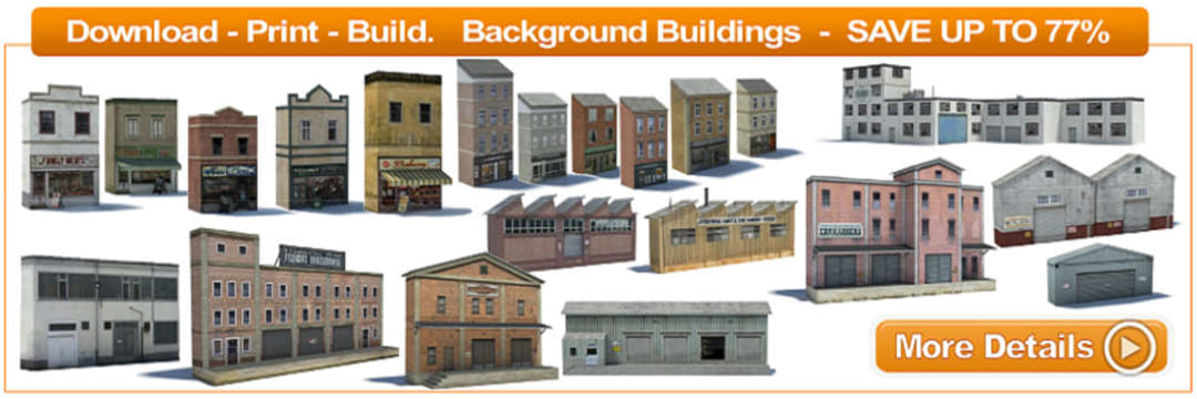 paper background railroad building models
