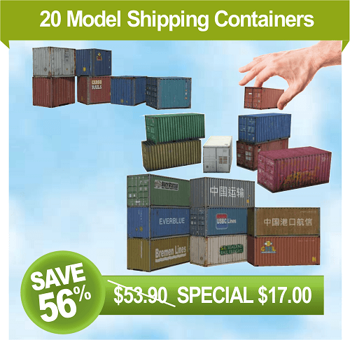 download printable plans for shipping container models
