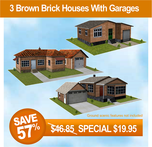 brown-brick-houses-with-garages