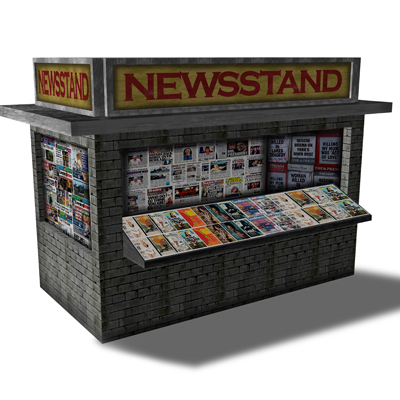News Stand Gray Brick