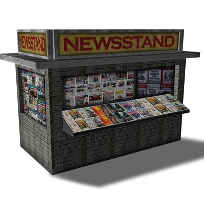 News Stand Gray Brick