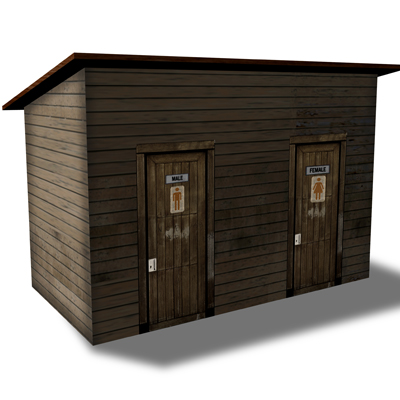 Toilet Block (Restroom) Wood