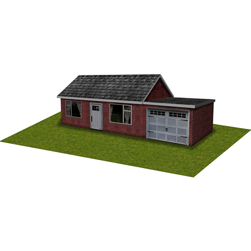 Red Brick House with garage