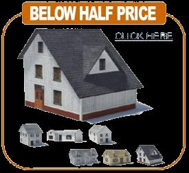 miniature railroad paper house models