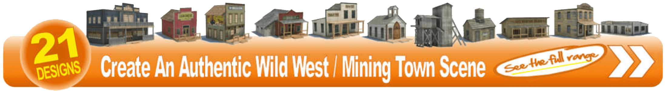 download old wild west mining town scale models