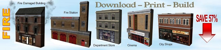 model builders printable paper scale city buildings