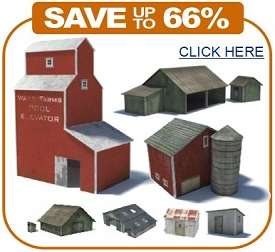 ho scale printable scale model farm buildings