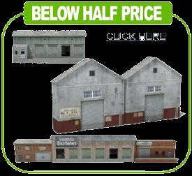 paper models ho scale railroad warehouse buildings