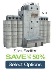 build silos model railroads