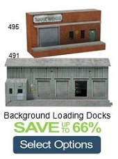 model railroad background loading docks