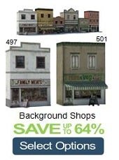 model shops background railroads scenery