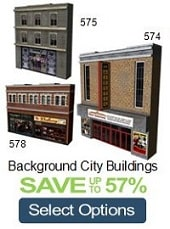 background city buildings cinema model railroads