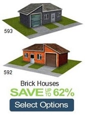 scale model train brick houses cardstock