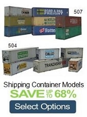 build scale model shipping containers