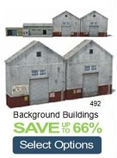 oo gauge n ho scale background factory warehouses