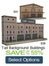 construct background scale railroad paper models