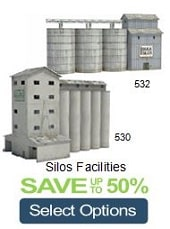 scale railroad model silos to make from cardboard
