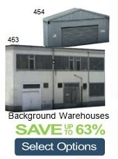 background industrial model railroad buildings