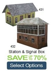 build cardboard signal box train station ho scale