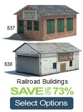 railroad buildings ho oo n scale
