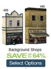 background model railroad buildings stores