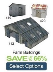 farm buildings oo gauge models