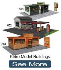 retro model buildings