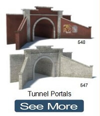 make model train tunnel portals cardboard