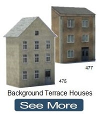 background railway terrace houses oo gauge