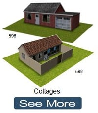 railway model cottages card paper