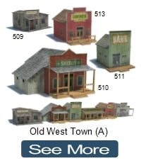 old wild west town cardboard models sheriff office