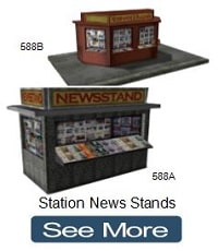 model train station news stands ho n oo scale