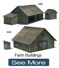 ho scale paper models farm barns